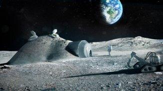 Construire une base lunaire avec l'impression 3D. Crédit ESA