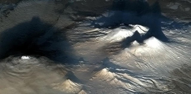Les volcans du Kamtchatka. (Chris Hadfield)