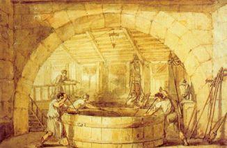 une brasserie au XIXè siècle