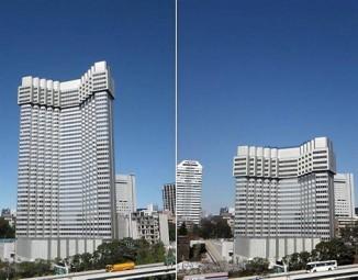 À gauche, l'immeuble en novembre 2012 ; à droite, il y a quelques jours.AFP