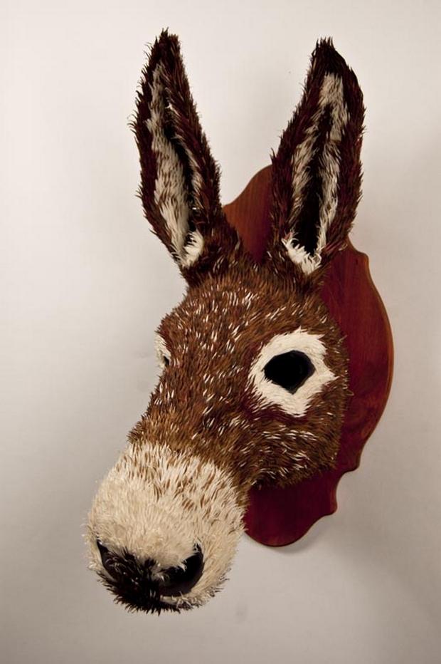 Des sculptures d animaux couper le souffle r alis s avec du papier galerie etrange et - Animaux en papier 3d ...