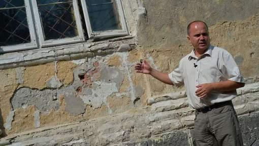 L'endroit précis où le couple Ceausescu fut exécuté © afp.