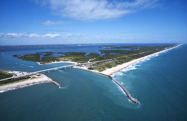 Melbourne Beach, en Floride (Etats-Unis), sur une vue aérienne du 11 février 2012. SUPERSTOCK/SUPERSTOCK/SIPA