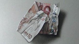 Ce billet de 10 euros est un dessin