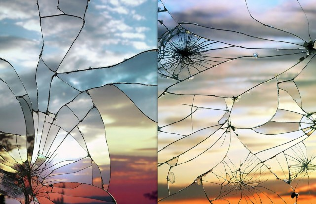 Miroir bris par bing wright galerie etrange et insolite for Le miroir brise
