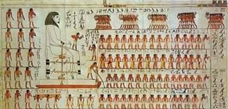 Tout était pourtant décrit dans cette fresque découverte au début des années 2000 dans la tombe de Djehutihotep. On voit clairement un homme à l'avant d'un traîneau transportant une immense statue, en train de verser du liquide sur le sable. © (Twitter).