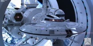 Mark Rademaker a travaillé en collaboration avec l'ingénieur et physicien de la Nasa Harold G.White sur un modèle réaliste de vaisseau spatial avec moteur à distorsion. Mark Rademaker (https://www.flickr.com/photos/123021064@N05/)