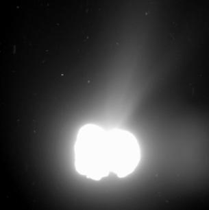 La comète en activité le 2 août 2014/ESA