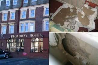 """Sur TripAdvisor, le """"Broadway Hotel"""" se classe à la 858e place (sur 894) et la majorité de ses clients le trouvent """"horrible"""". © (DR)."""