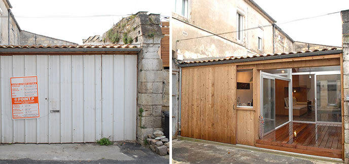 Il transforme un garage en un appartement galerie et vid o etrange et ins - Amenager son garage en studio ...