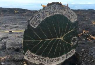 """Une image du """"sanctuaire pour les visiteurs de l'espace""""installé à Hawaï, issue d'une vidéo du Wall Street Journal"""