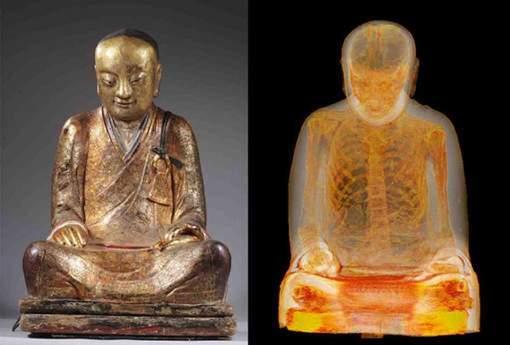 Actuellement, le Bouddha se trouve en exposition au Musée d'Histoire naturelle à Budapest (en Hongrie) jusqu'en juin 2015. © © Drents Museum..