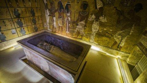 Khaled Desouki, AFP | La chambre funéraire du pharaon Toutankhamon, dans la Vallée des Rois, à Louxor.
