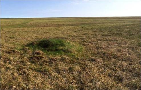 bulles de méthane ont été trouvés à l'Belyy île, 763 km au nord de Salekhard, péninsule de Yamal. Photo: Alexander Sokolov