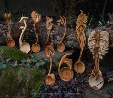 Cuillères en bois sculptés en forme d'animaux (galerie et vidéo) 1210