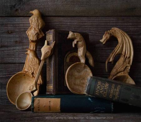 Cuillères en bois sculptés en forme d'animaux (galerie et vidéo) 48