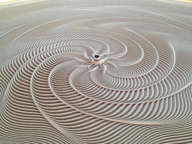 Project Sisyphus Une Impressionnante Machine A Dessiner Dans Le Sable Galerie Et Video Etrange Et Insolite