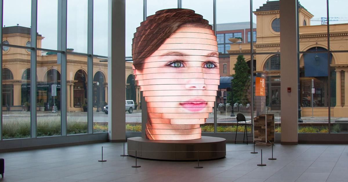 Sculpture interactive de LED avec les visages des visiteurs (vidéo) — Etrange et Insolite