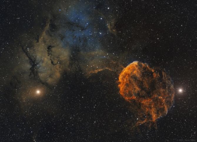 L'image du jour : Sharpless 249 et la nébuleuse de la méduse, IC 443 (vidéo) By Jack35 3-15