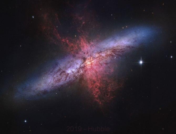 L'image du jour : La galaxie du Cigare, M82 (vidéo) By Jack35 2-23