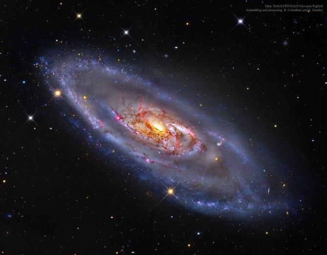 L'image du jour : Zoom sur M106 une galaxie de Seyfert (vidéo) By Jack35 1-32