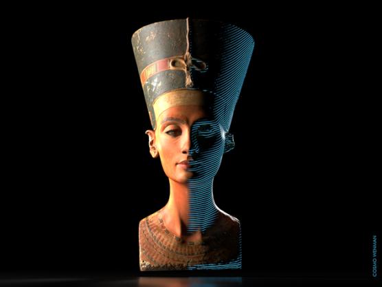 Scan 3D longtemps caché du buste de l'Egypte ancienne de Nefertiti enfin révélé (vidéo) By Jack35 1-2