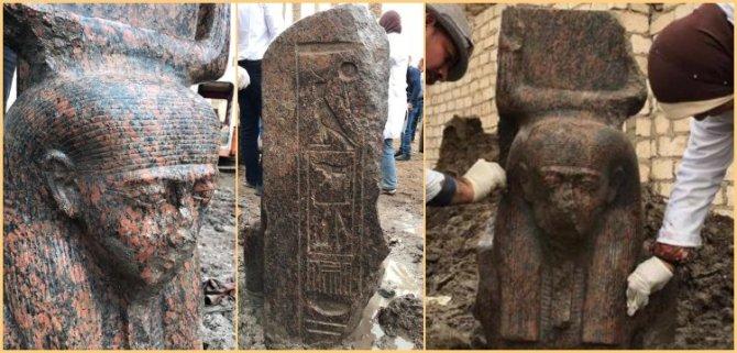 « Rare » découverte d'un buste de Ramsès II (vidéo) By Jack35 5-2
