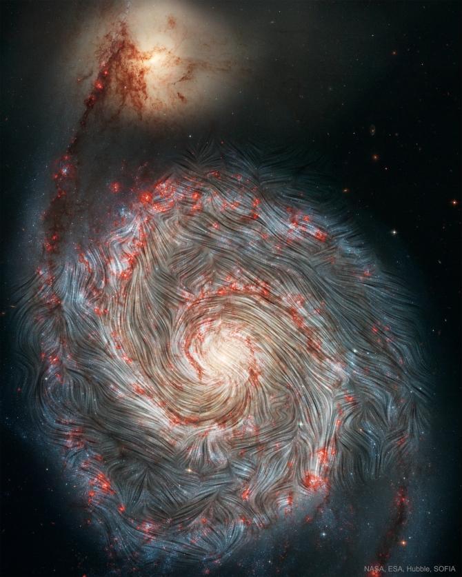 L'image du jour : Le champ magnétique de la galaxie Whirlpool, M51 (vidéo) By Jack35 1-2-13