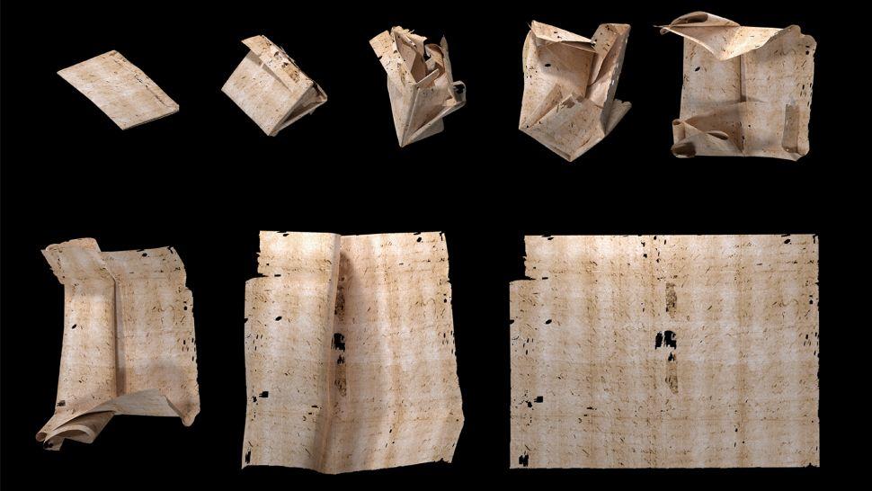 Une lettre de l'époque de la Renaissance scellée pendant des siècles à peine dépliée et lue pour la première fois (diaporama et vidéo) By Jack35 2-3